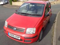 2005 Fiat Panda Dynamic 1.2 Petrol Red 5 Door 12 Months MOT Cheap to insure & run Bargain LOW MILES