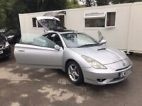 Toyota Celica 1.8 VVT-i 3dr, p/x welcome, 6 MONTHS FREE WARRANTY, FULL SERVICE HISTORY