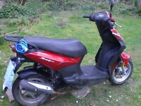 Sym moped sold as spares/repairs. It runs fine and with a bit of work it will do someone .