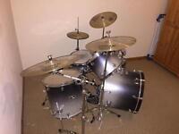 Mapex 'Pro M' 10 piece drum kit, Sabian cymbals