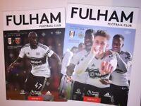 2x football programmes Fulham