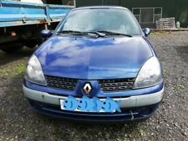 2002 Renault Clio Expression DCI 65 Blue Diesel 1,461 cc. 65 BHP. For Breaking.