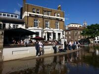 Full and part time bar staff required, world famous White Cross, Richmond riverside £7.20 per hour