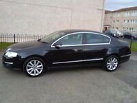 VOLKSWAGEN PASSAT 2.0 TDI SPORT 140 , BLACK 2006, MANUAL, LOW MILEAGE.
