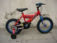 Kids Bike, by Silver Fox, Red & Blue, 14 inch for Kids 4 Years, JUST SERVICED / CHEAP PRICE!!!!!!!!!