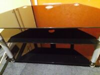 Glass TV corner unit