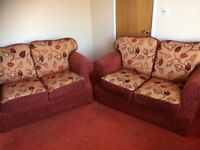 TWO 2-SEATER SOFAS – EXCELLENT CONDITION