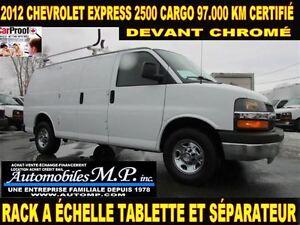 2012 Chevrolet Express 2500 CARGO RACK A ÉCHELLE TABLETTE 97.000