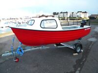 JURA FISHERMAN BOAT, ENGINE AND TRAILER PACKAGE - FREE COVER - UK WIDE DELIVERY