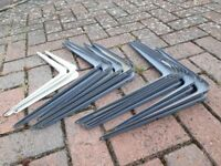 14 metal shelf brackets
