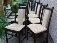 Ercol dining chairs- set of 8- excellent condition-buy now for Christmas