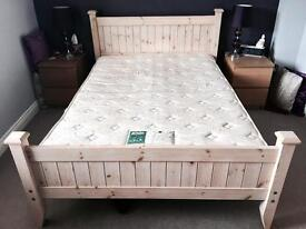 NEXT Solid wood Double bed with mattress
