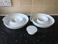 large party/catering bowls and cake stand