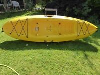 Ocean kayak 'Frenzy' sit-on top kayak including back rest and paddle.