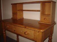 Antique Pine Desk. Beautiful piece of furniture.