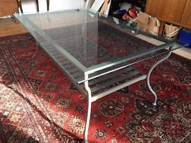 Glass and metal coffee table £20