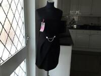 TG (NEW) BLACK STRAPLESS DRESS (SIZE 14)