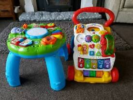 Vtech Walker and leap frog activity table £6 for BOTH