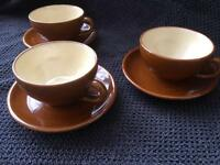 Vintage / Retro Set of 3 Expresso Cups & Saucers