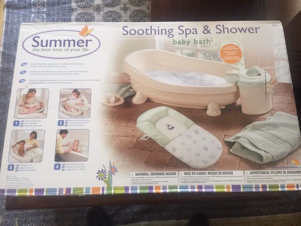 Brand NEW Baby Luxury SUMMER Soothing Spa And Shower Bath GBP40