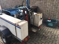 Hydraulic diamond coring trailer + Hydraulic Power pack