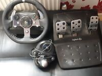 logitech g920 stearing wheel