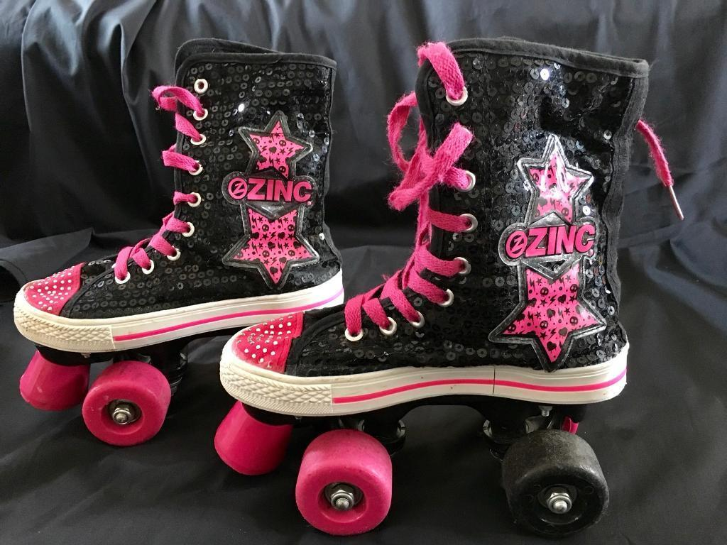 Girl's baseball style roller boots - size 3