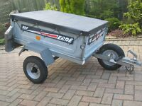 Erde 102 trailer,spare wheel and flat cover