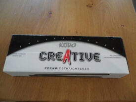 New Kodo Creative ceramic hair straighteners. Brand new in box and unused.