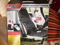 HEATED MASSAGE CUSHION with 8 programs