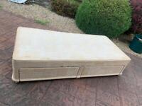 Free Single Divan Bed Base with 2 drawers no mattress