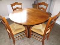 Farm house style dinning table and chairs
