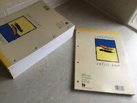 9 Cambridge plain 80 sheets A4 pads