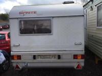2 berth Sprite caravan