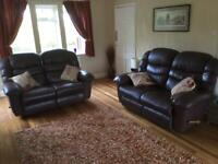 La-Z-Boy Gibson 2 x 2 seater sofas in brown leather