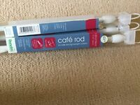 Brand new Cafe rod curtain poles 120-215cm £2 each or x3 for £5