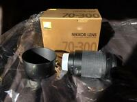 Nikon 70-300mm AF telephoto lens
