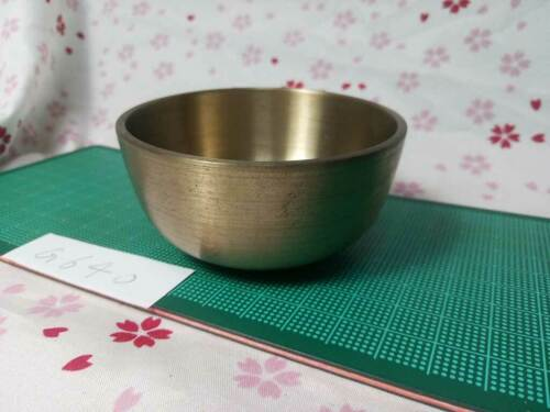 """2.972"""" Japanese Vintage Buddhist Bell Gong Rin G640 Traditional Tone"""