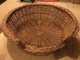Cat/Dog Wicker Basket