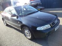 2000 Audi A4 1.8 Petrol 4 Door Saloon in Black Colour. Mileage is 138K with 1 Month MOT