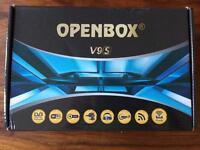 Open box v9s HD sky movies wifi satellite receiver iptv