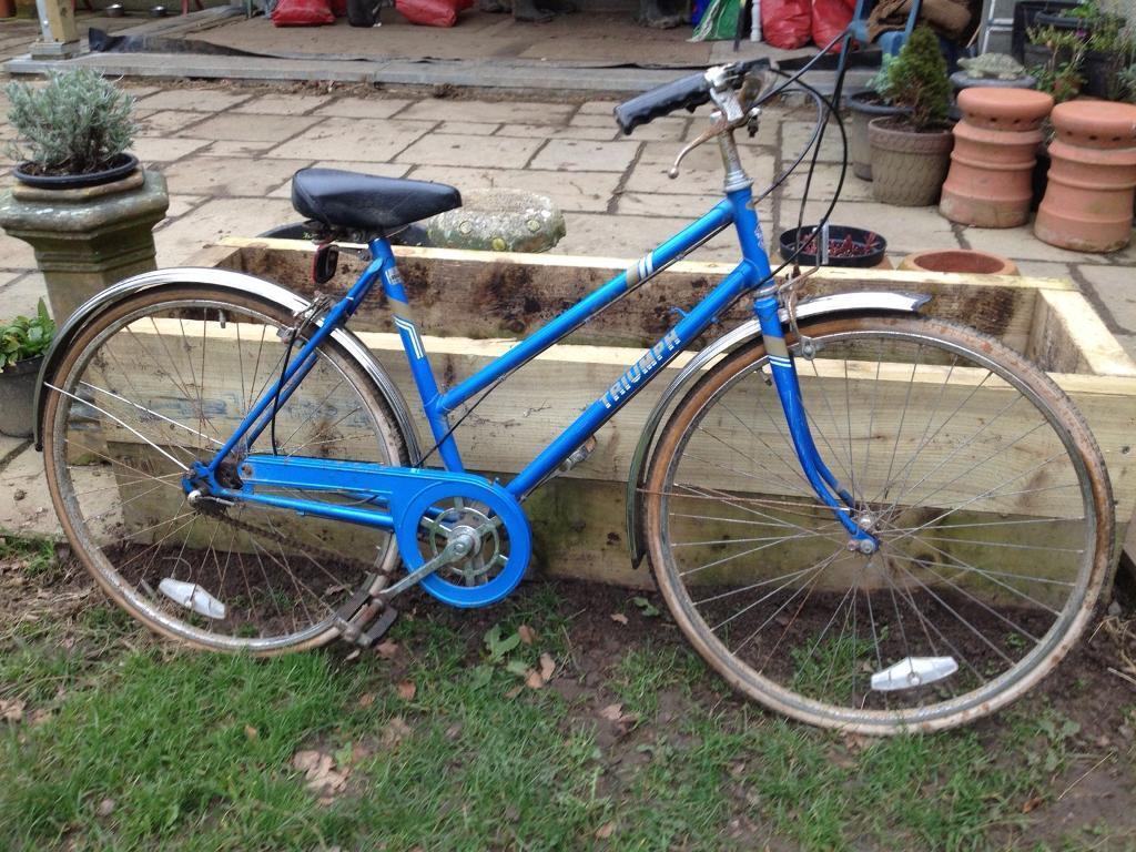 vintage triumph bicycle