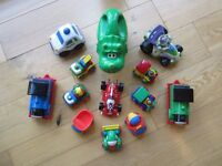 TOYS ~ CARS, TORCH, THOMAS TRAINS, BUZZ LIGHTYEAR CAR & POLICE CAR~ £7.50 FOR 13 ITEMS