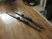 Atomic SX7 carver skis and bindings, 170cm long, excellent condition
