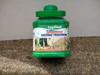 CUPRINOL sprayable decking treatment. Natural Oak colour. 3ltr container covers up to 36 sq metres