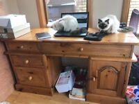 Pine computer desk / dressing table