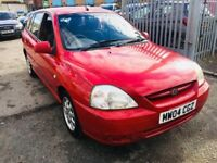 KIA RIO 1.3 LX PETROL AUTOMATIC 5 DOORS HATCHBACK RED 2004 LOW MILEAGE 52000 MILES