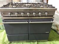 Stunning Lacanche Moderne Range cooker large oven Graphite and Chrome appliance