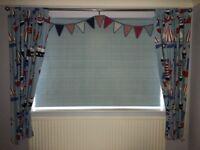 Laura Ashley, John Lewis, boys bedroom soft furnishings and matching bedding set