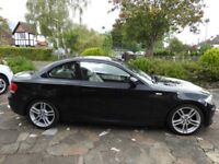 2011, 1 Series M Sport 118D BMW Coupe, Black,Full Cream Leather,49,642 Miles